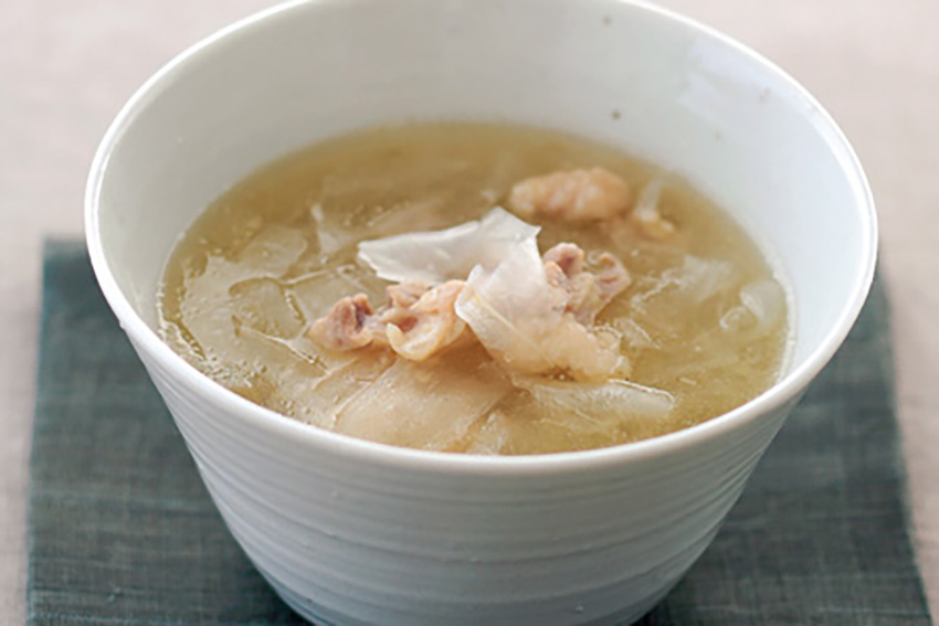 大根麺のスープ